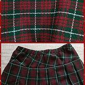 Материалы для творчества handmade. Livemaster - original item Fabric suiting wool Hogwarts in green and Burgundy plaid. Handmade.