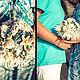 """Свадебные цветы ручной работы. Заказать Букет из ракушек """"Бирюза"""". Елена. Ярмарка Мастеров. Букет в морском стиле, свадебные аксессуары"""