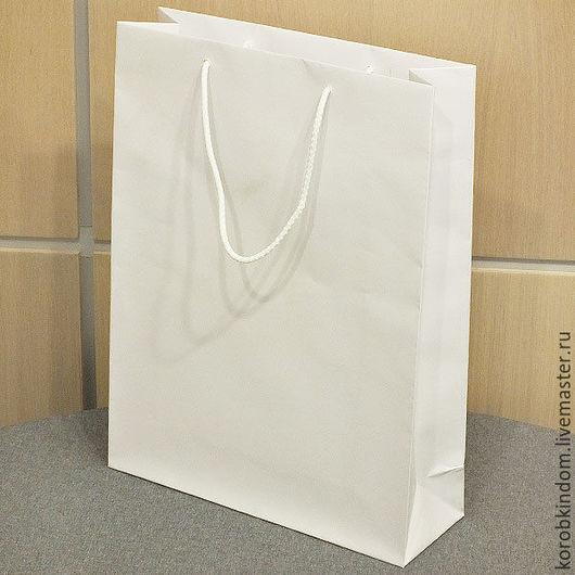 Упаковка ручной работы. Ярмарка Мастеров - ручная работа. Купить Пакет 30х40х10 белый с ручками веревочными. Handmade. Пакет