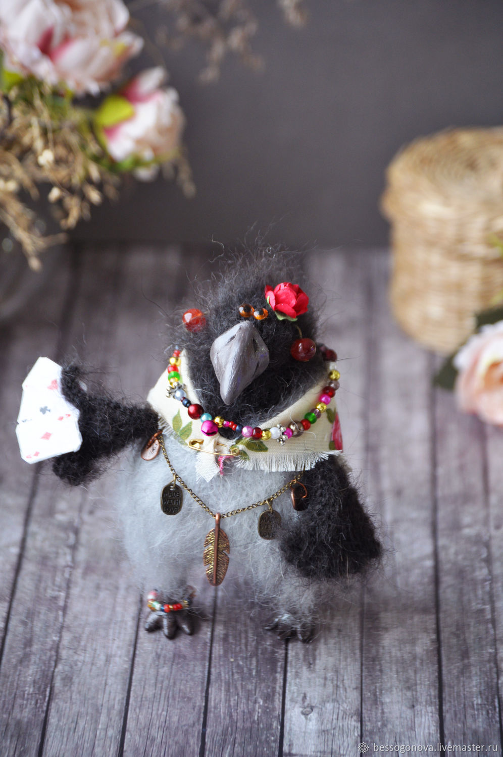 crow Karma knitted, Stuffed Toys, Severodvinsk,  Фото №1