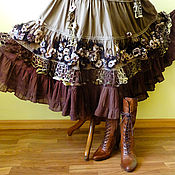 Одежда ручной работы. Ярмарка Мастеров - ручная работа Бохо - юбка Вальс цветов. Handmade.