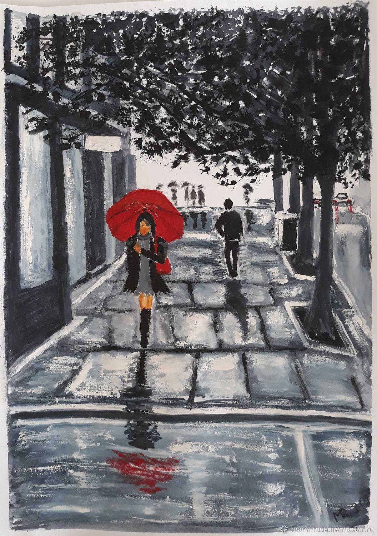Под красным зонтом картинки