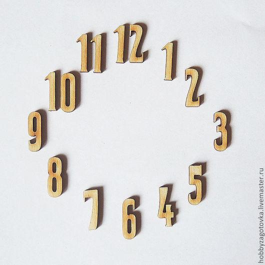 Декупаж и роспись ручной работы. Ярмарка Мастеров - ручная работа. Купить Комплект цифр для часов F-0089. Handmade. Белый