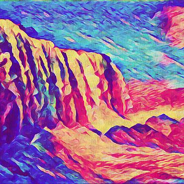 Картины и панно ручной работы. Ярмарка Мастеров - ручная работа Розовые горы. Handmade.