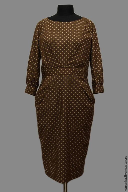 Платья ручной работы. Ярмарка Мастеров - ручная работа. Купить Платье Бриджит. Handmade. Коричневый, платье по фигуре, платье