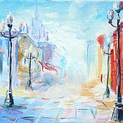 """Картины и панно ручной работы. Ярмарка Мастеров - ручная работа Картина """"Солнечный Арбат"""". Handmade."""