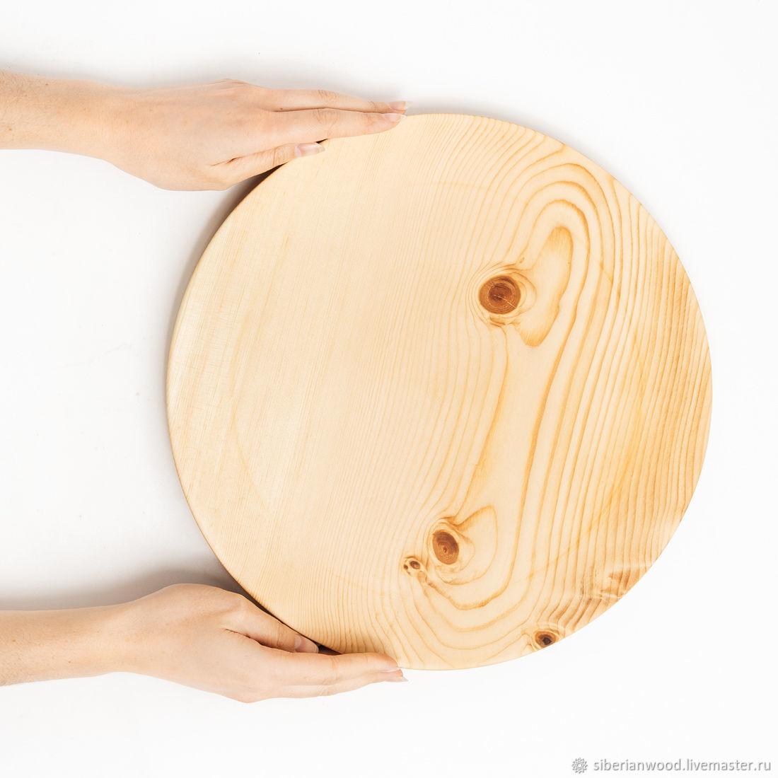 Wooden dish plate Siberian Cedar dishes for kitchen #T108, Plates, Novokuznetsk,  Фото №1