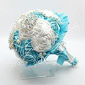 Свадебный салон ручной работы. Ярмарка Мастеров - ручная работа Брошь букет Gilliann. Handmade.