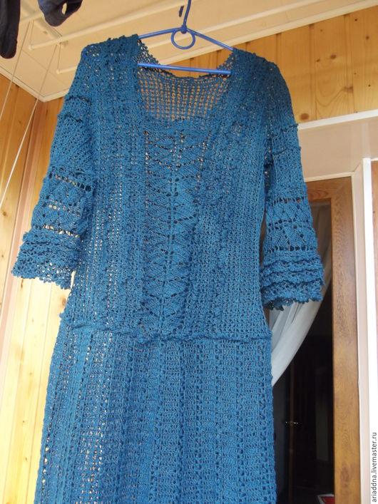 Платья ручной работы. Ярмарка Мастеров - ручная работа. Купить Льняное платье по мотивам Шарлотты от Ванессы Монторо. Handmade.