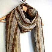 Аксессуары handmade. Livemaster - original item Felted scarf mens Cappuccino Merino wool felt. Handmade.
