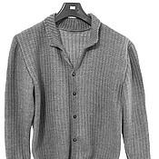 """Одежда ручной работы. Ярмарка Мастеров - ручная работа Кардиган мужской """"Грей"""". Handmade."""