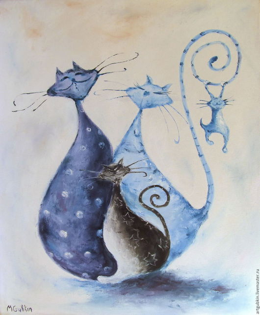 Животные ручной работы. Ярмарка Мастеров - ручная работа. Купить Котики (вар. 2). Handmade. Разноцветный, котики, коты