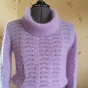 Одежда ручной работы. Ярмарка Мастеров - ручная работа Ажурный свитер из кид мохера. Handmade.