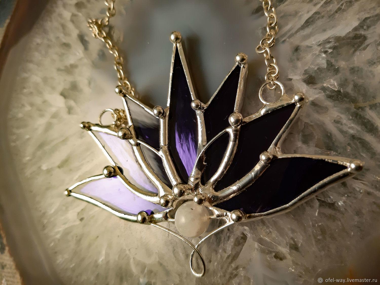 Purple Lotus (p-020-05s), Pendants, St. Petersburg,  Фото №1