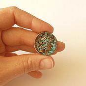 Подвески ручной работы. Ярмарка Мастеров - ручная работа Крупная подвеска монета с профилем - патинированная медь. Handmade.