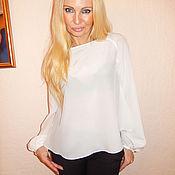Одежда ручной работы. Ярмарка Мастеров - ручная работа блуза-реглан- Белоснежка. Handmade.