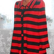 """Одежда ручной работы. Ярмарка Мастеров - ручная работа Пальто """"Этюд в полоску""""/Авторская работа.. Handmade."""