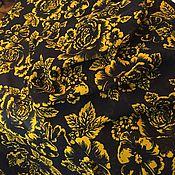"""Материалы для творчества ручной работы. Ярмарка Мастеров - ручная работа Крепжоржет """"Золотые розы"""" 2,4 м. Handmade."""