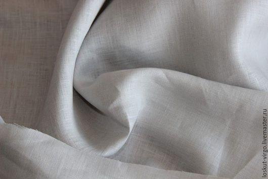 Шитье ручной работы. Ярмарка Мастеров - ручная работа. Купить Рубашечный лен светло-серого цвета MAX MARA,1300руб-м. Handmade.