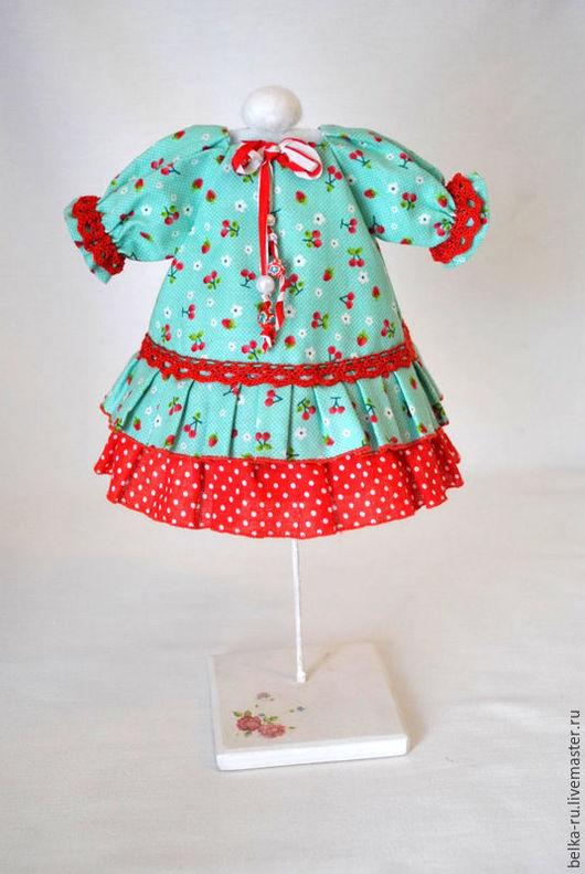 Одежда для кукол ручной работы. Ярмарка Мастеров - ручная работа. Купить Платье для куклы. Handmade. Комбинированный, платье для куклы