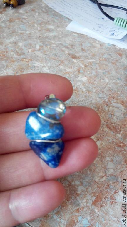 Кулоны, подвески ручной работы. Ярмарка Мастеров - ручная работа. Купить Синь лазурита, кулон. Handmade. Синий, индиго бусина