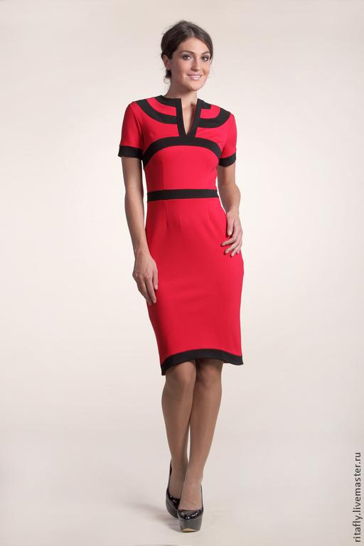 Цвет: красный+черный платье платья платье сшитое платье кружево платье платья платье джерси платье шитое платье женское платье осень платье осеннее платье офис платье офисное платье до колен платье п