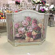 Для дома и интерьера ручной работы. Ярмарка Мастеров - ручная работа Каминный экран - Розы. Handmade.
