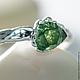 """Кольца ручной работы. Ярмарка Мастеров - ручная работа. Купить Кольцо """"Green garnet"""" (натуральные камни, гранат) 52/07. Handmade."""