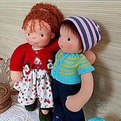 Куклы и игрушки ручной работы. Ярмарка Мастеров - ручная работа вальдорфская кукла - мальчик Антошка. Handmade.