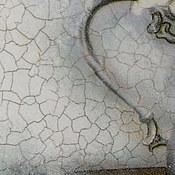 """Посуда ручной работы. Ярмарка Мастеров - ручная работа Декоративная тарелка """" Белые розы в кофейнике.. Handmade."""