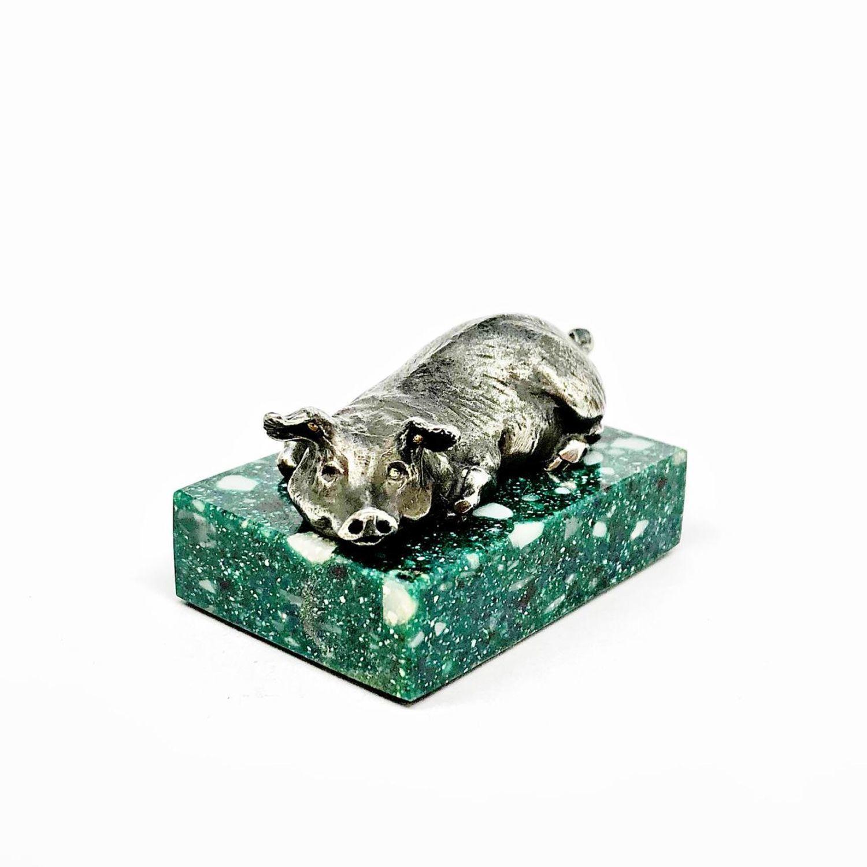 PIG miniature. Pig figurine. figurine animal, Figurine, Zhukovsky,  Фото №1