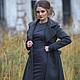 Пальто-шинель из вязаного шерстяного полотна. Дизайнерская одежда на заказ.  Индивидуальный подход. Мастерская  Masha Koneva.