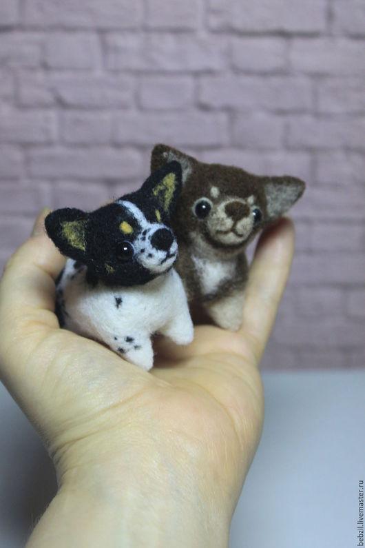 Игрушки животные, ручной работы. Ярмарка Мастеров - ручная работа. Купить Валяная игрушка чихуахуа Чук и Гек. Handmade. Мини