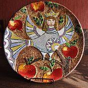 """Посуда ручной работы. Ярмарка Мастеров - ручная работа Декоративная тарелка""""Сирин"""". Handmade."""