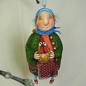 Куклы и игрушки ручной работы. Ярмарка Мастеров - ручная работа Бабуся с золотой курочкой. Handmade.