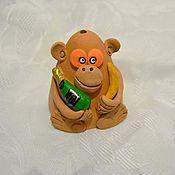 Сувениры и подарки ручной работы. Ярмарка Мастеров - ручная работа колокольчик обезьяна - 2016 года. Handmade.