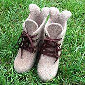 Обувь ручной работы. Ярмарка Мастеров - ручная работа Валенки-ботинки детские на подошве. Handmade.