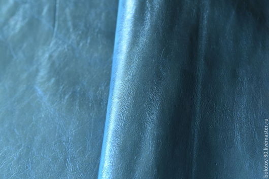 Шитье ручной работы. Ярмарка Мастеров - ручная работа. Купить Натуральная кожа.Италия.Голубой металлик.. Handmade. Натуральная кожа
