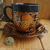 Сувениры и подарки handmade. Livemaster - original item Mug in 1 the style of steampunk (steampunk). Handmade.