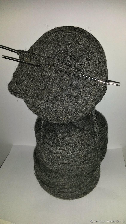 Woolen yarn grey for knitting, Yarn, Urjupinsk,  Фото №1