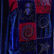 """Одежда ручной работы. Ярмарка Мастеров - ручная работа Бархатная туника """"Глубокое синее море"""". Handmade."""