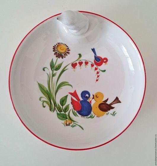 Винтажная посуда. Ярмарка Мастеров - ручная работа. Купить Старинная фарфоровая тарелка с подогревом. Handmade. Сервировка стола, тарелочка