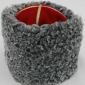Аксессуары handmade. Livemaster - original item Hat is made of grey Karakul, General. Handmade.