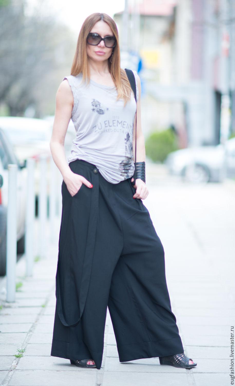 Купить женские черные брюки