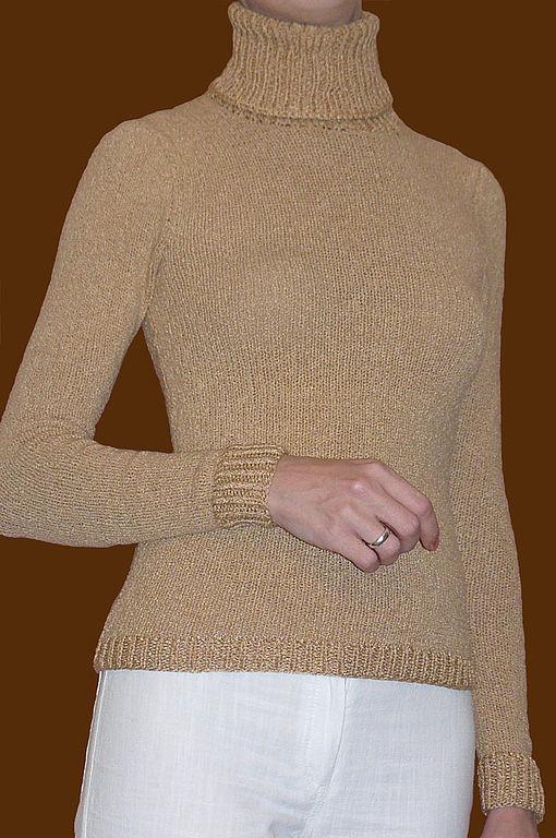 Кофты и свитера ручной работы. Ярмарка Мастеров - ручная работа. Купить Водолазка вязаная простая. Handmade. Водолазки на любой вкус