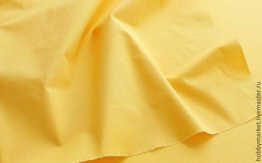 Шитье ручной работы. Ярмарка Мастеров - ручная работа. Купить Ткань хлопок Желтый. Handmade. Ткань для творчества, ткань для Тильды