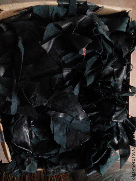 Шитье ручной работы. Ярмарка Мастеров - ручная работа. Купить лоскут  черной кожи на вес. Handmade. Черный, лоскут, остатки