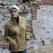 """Одежда ручной работы. Ярмарка Мастеров - ручная работа Жакет валяный """"Золотая олива"""".. Handmade."""