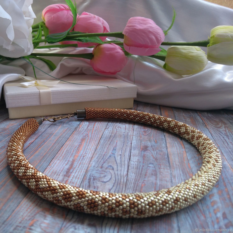 Choker harness'Golden Sands', Necklace, Kaliningrad,  Фото №1