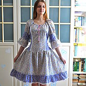 Одежда handmade. Livemaster - original item Summer dress Lavender in country boho style. Handmade.
